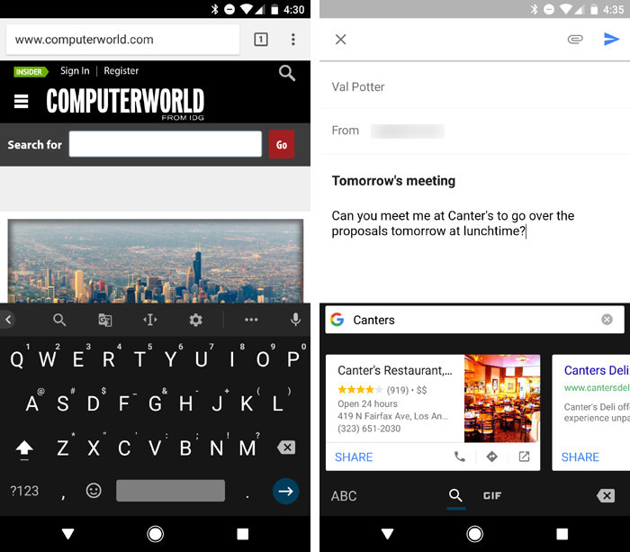 Android productivity tips - Gboard keyboard app