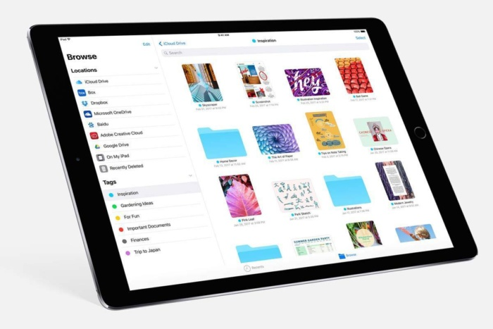 ipadpro ios11 files