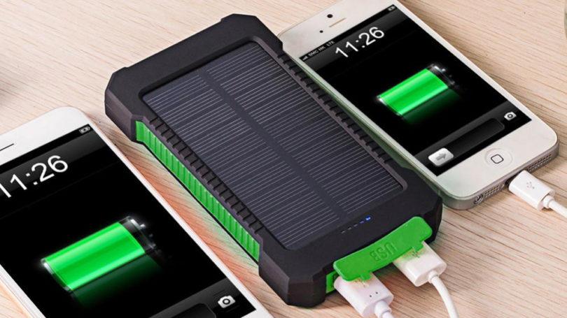 внешние аккумуляторы на солнечных батареях лучшие Powerbank с