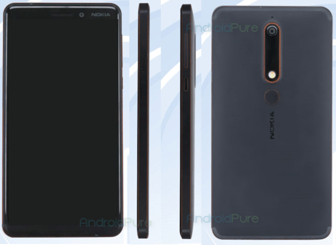 Nokia 6 (2018) specs and pictures revealed by Chinese regulator agency