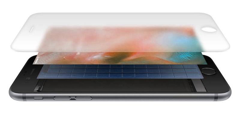 Сенсорный экран для имитации материалов компании Apple