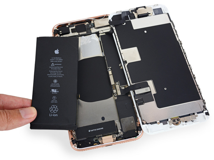 The iPhone 9 is likely to carry over the rectangular battery and non-stacked motherboard from the 8 Plus