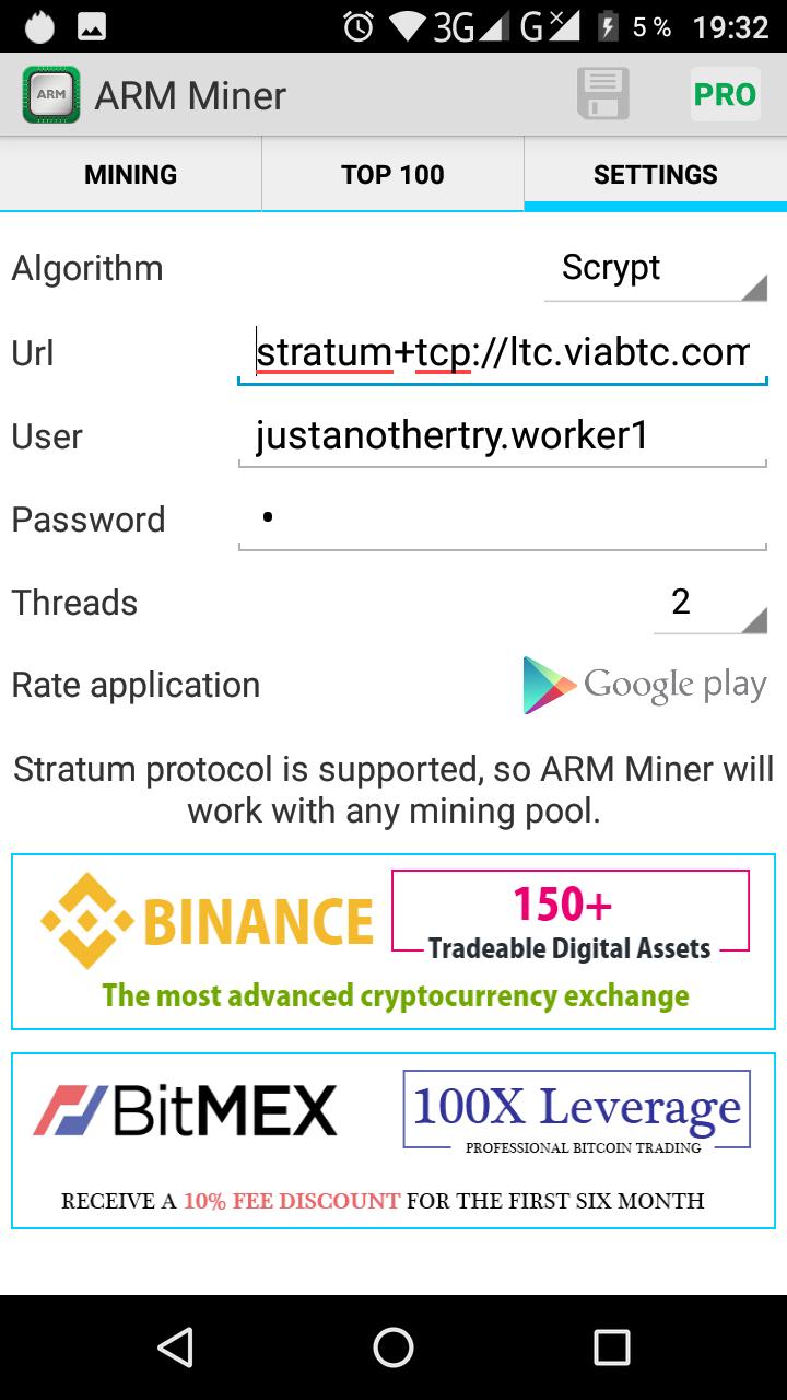 arm miner bitcoin