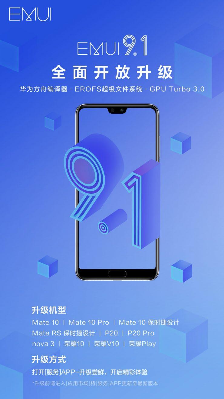 EMUI 9.1 Huawei Honor