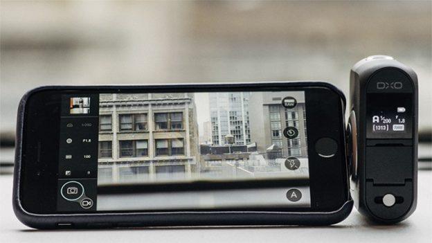 Картинки по запросу внешняя камера для смартфона dxo one