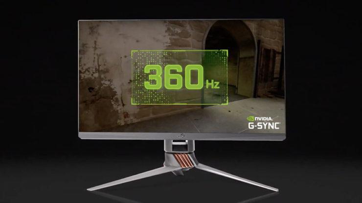 Asus ROG Swift 360Hz: Nvidia zeigt ersten Monitor mit G-Sync und 360 Hz - ComputerBase