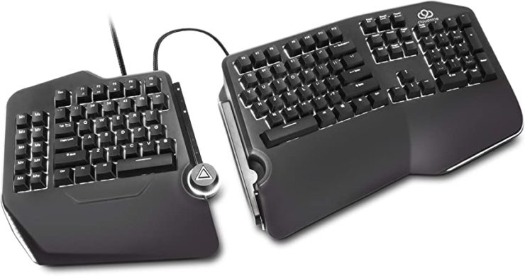 Amazon.com: Cloud Nine C989M Ergonomic Mechanical Keyboard - Cherry MX Brown Switches - RGB Light Up LED Backlit with USB - Ergo Split Key Board with Macro for PC: Computers & Accessories