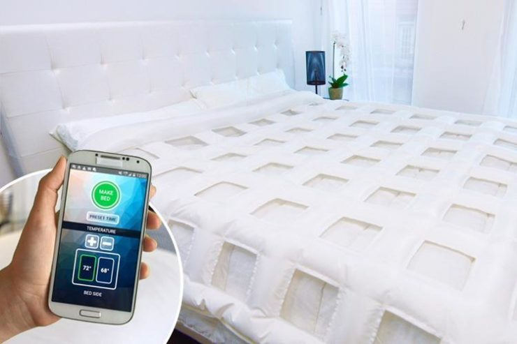 SmartDuvet: A bed that automates bedmaking and temperature control