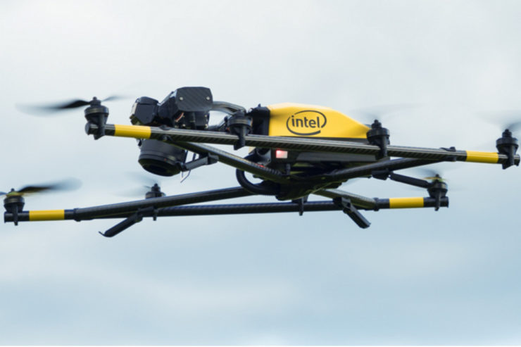 Behold, the first drone with Intel outside - The Verge