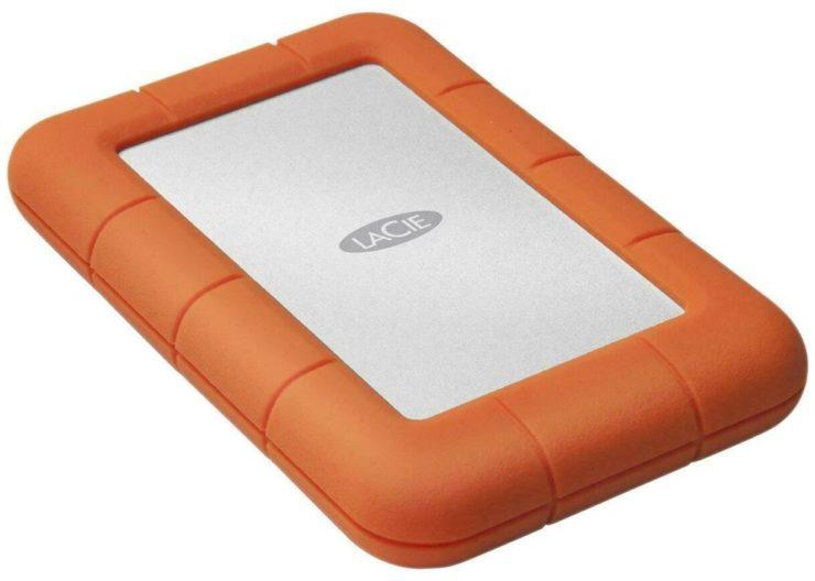 Внешний HDD Lacie Rugged Mini 5400rpm 5 TB, оранжевый