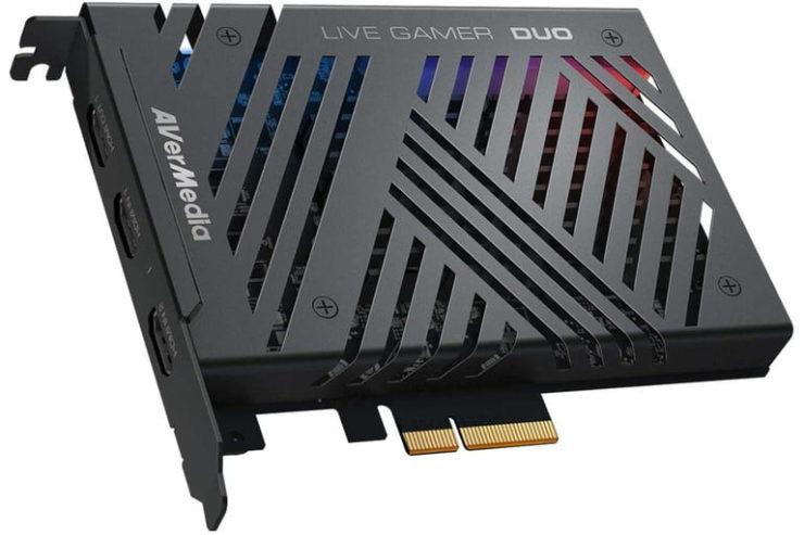 An AverMedia Live Gamer Duo capture card.