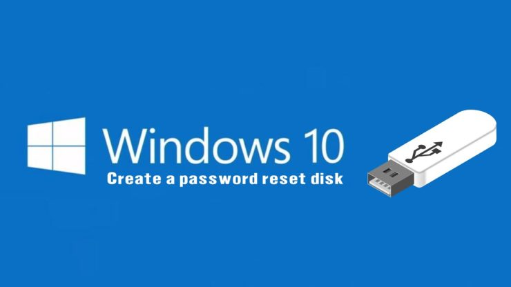 How to create password reset disk on usb flash in windows 10 - YouTube