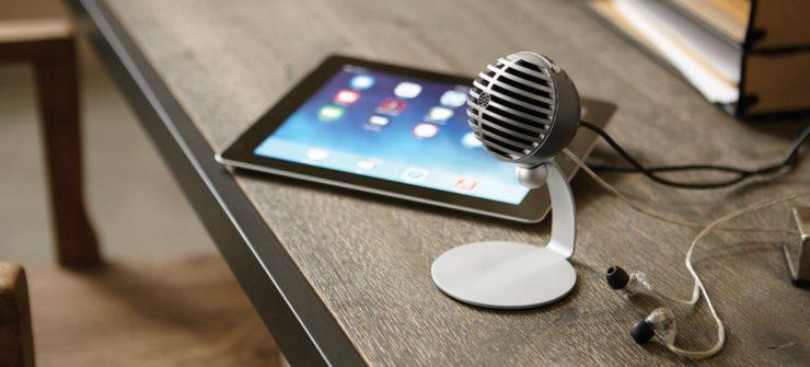 Купить Shure MV5-DIG конденсаторный микрофон для записи серый по низкой цене | Хай-Тек Медиа