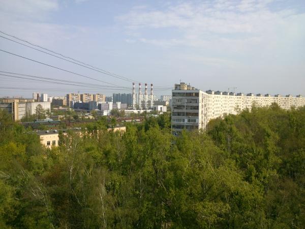 Фото города, снятое Sony Xperia P