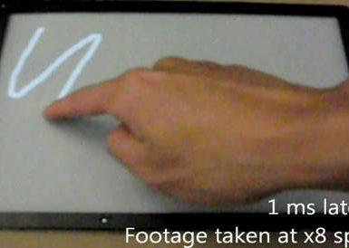 Сверхбыстрый сенсорный дисплей от Microsoft