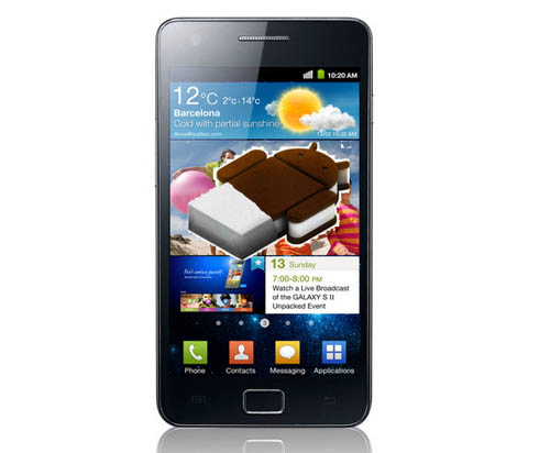 Samsung Galaxy S2 с Android 4.0 Ice Cream Sandwich