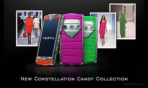 Новые телефоны от Vertu: Candy Raspberry, Candy Mint Green и Candy Tangerine