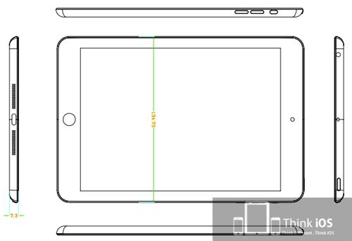 Схематичное изображение iPad Mini
