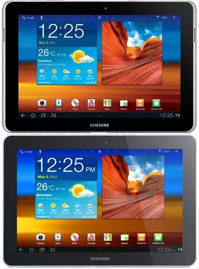Samsung Galaxy Tab 10.1 и Apple iPad