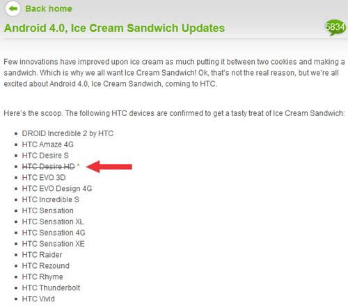 Обновление прошивки для HTC Desire HD