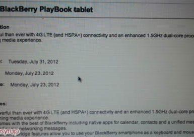 BlackBerry PlayBook LTE