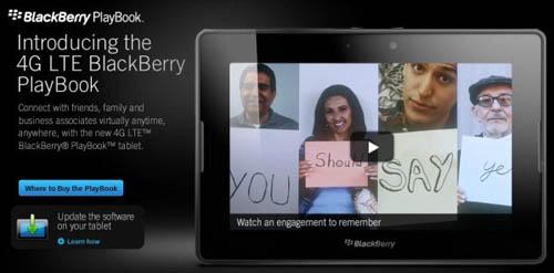 Анонс планшета Blackberry PlayBook с 4G LTE