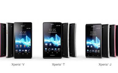 Sony Xperia T, Sony Xperia V, Sony Xperia J