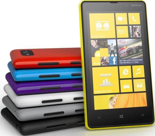 Различные расцветки Nokia Lumia 820
