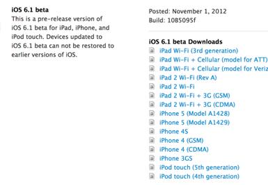 Операционная система iOS 6.1