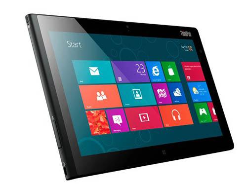 Продажи Lenovo ThinkPad Tablet 2 начнутся в январе 2013 года