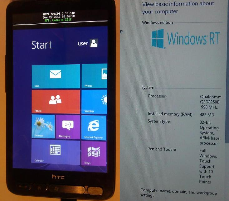 HTC HD2 с Windows RT
