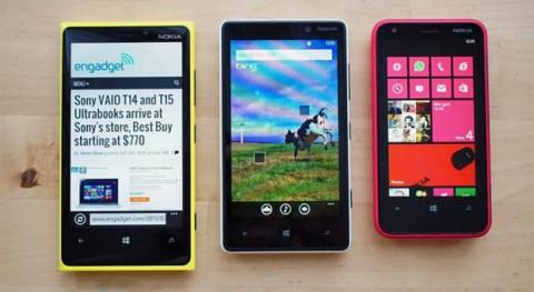 Nokia Lumia 620, Nokia Lumia 820, Nokia Lumia 920