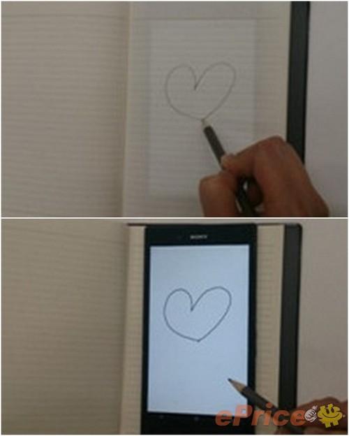 Рисуем карандашом на бумаге, а изображение появляется на дисплее Sony Xperia Z Ultra
