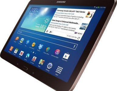 Коричневый планшет Samsung Galaxy Tab 3