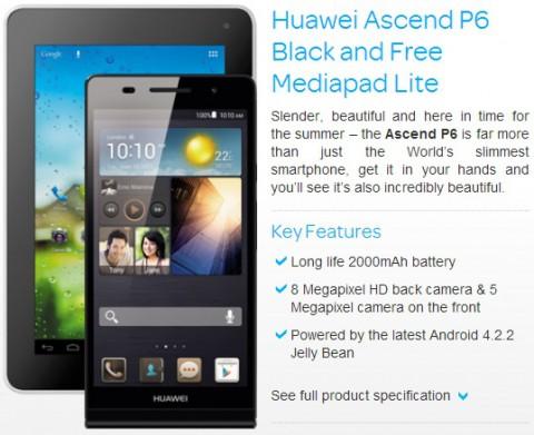 Старт продаж смартфона Huawei Ascend P6 в Великобритании
