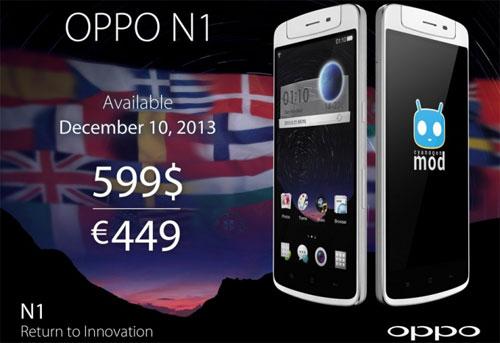 Старт продаж смартфона Oppo N1