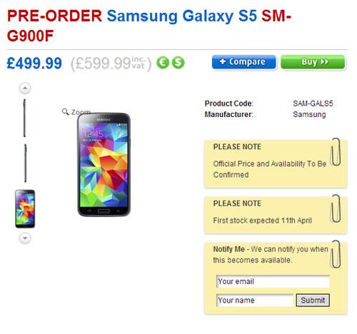 Цена смартфона Samsung Galaxy S5