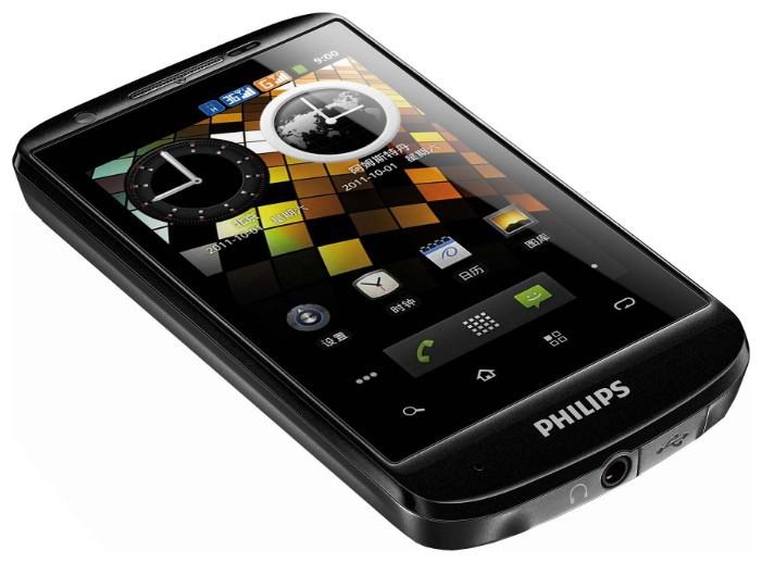 Philips W626: вид сбоку