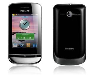 Philips Xenium X331: вид с двух сторон