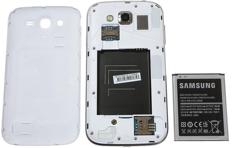 Samsung Galaxy Grand: аккумуляторный отсек