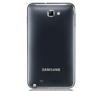 Samsung Galaxy Note: тыльная сторона