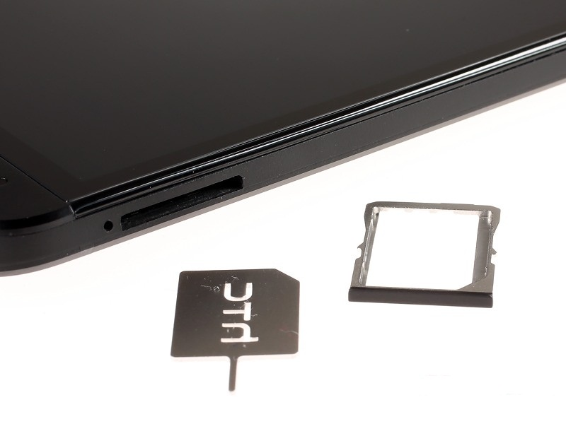MicroSIM slot in the HTC One smartphone