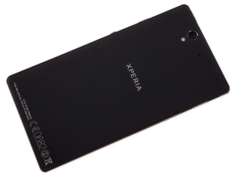 Sony Xperia Z: тыльная сторона