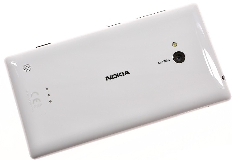 Back of Nokia Lumia 720