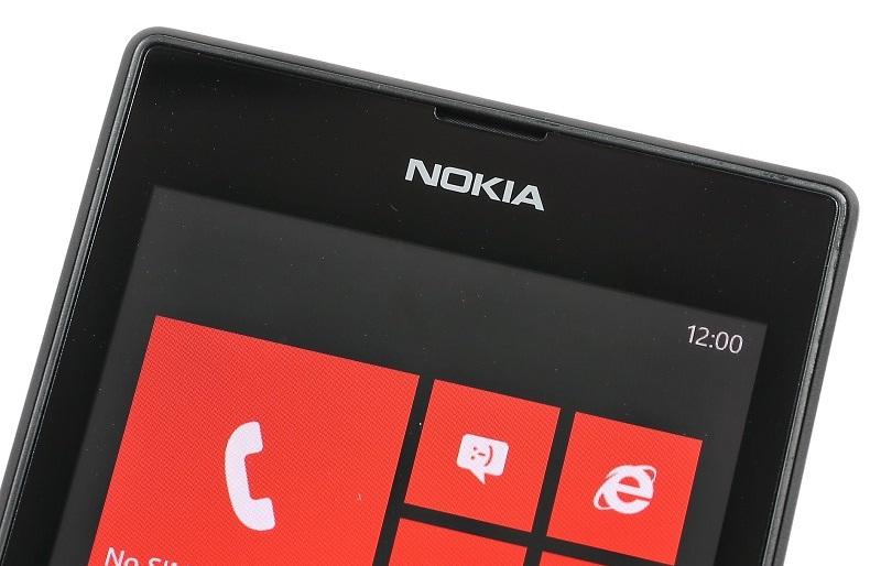 The top of the Nokia Lumia 520